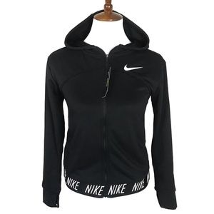 Nike zip front girls sweat jacket hoodie sz Large
